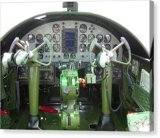 Mitchell B-25 Bomber Cockpit Canvas Print