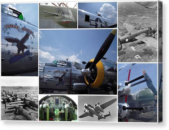 Mitchell B-25 Collage Canvas Print