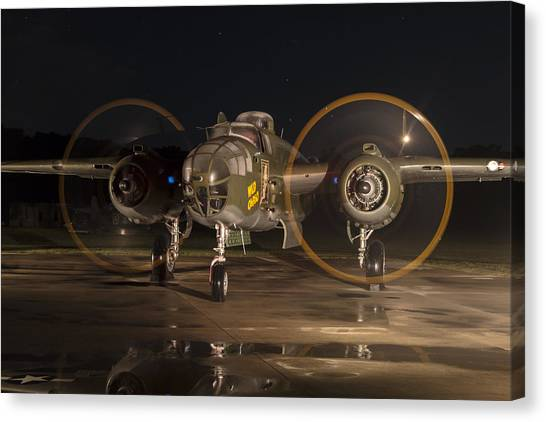 Mitchell Night Engine Run Canvas Print