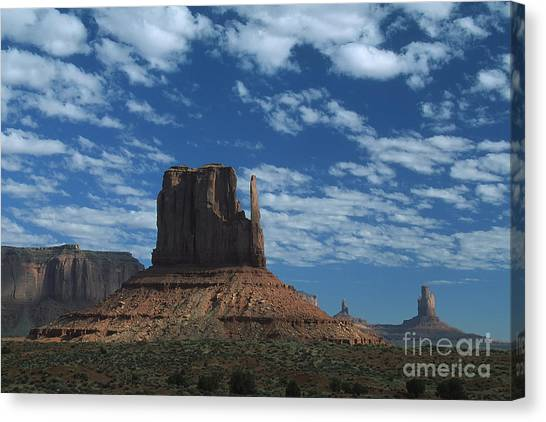 Mitten Under A Perfect Sky Canvas Print by Stan and Anne Foster