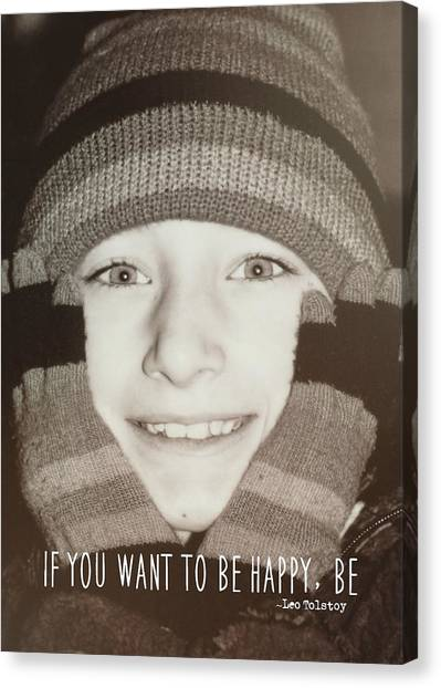 Mittens Quote Canvas Print by JAMART Photography