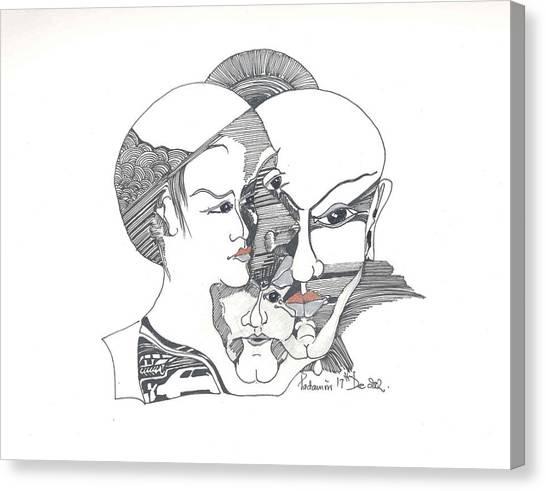 Mixed Identities Canvas Print by Padamvir Singh