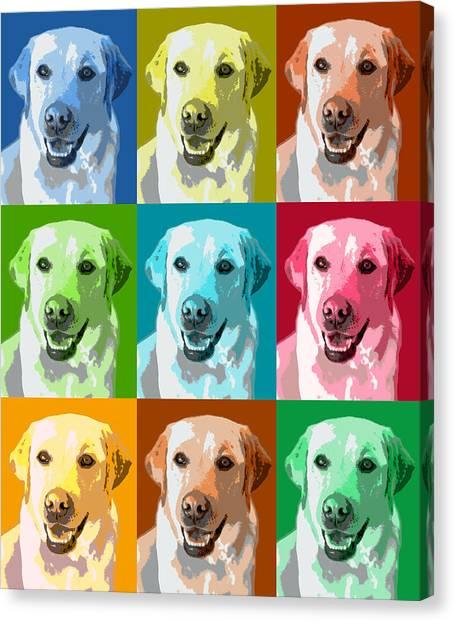 Golden Retriever Warhol Canvas Print