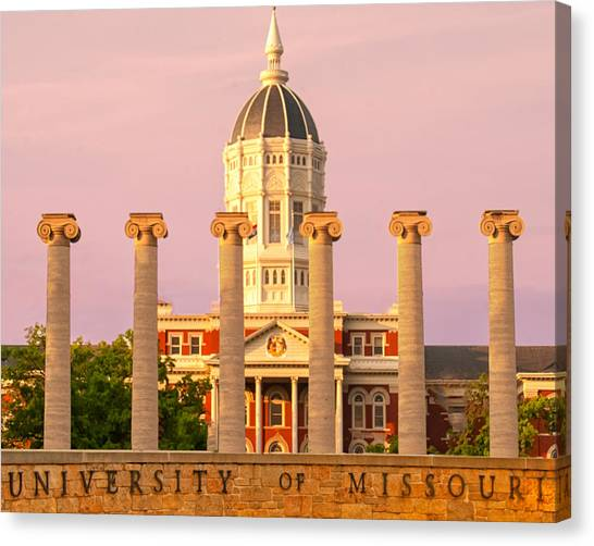 University Of Missouri Canvas Print - Mizzou Quadrant by Mike Andre
