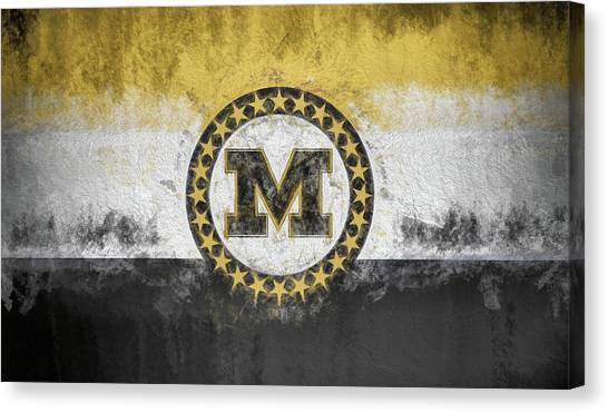 University Of Missouri Canvas Print - Mizzou State Flag by JC Findley