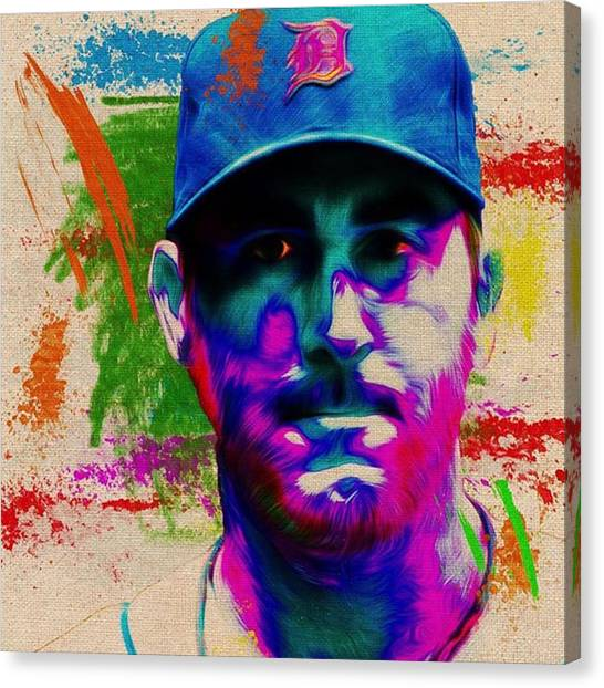 Baseball Canvas Print - @mlb @mlbtrashtalkers @mlbnetwork by David Haskett II