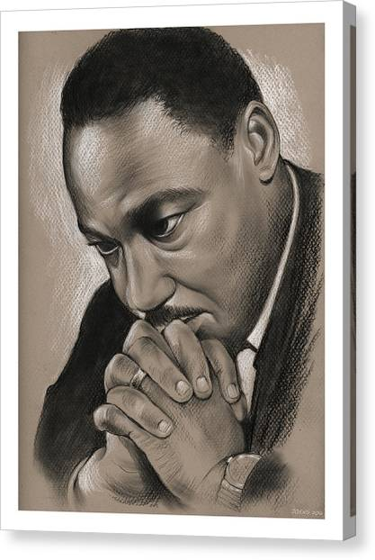 Rights Canvas Print - MLK by Greg Joens