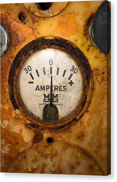Mm Amperes Gauge Canvas Print