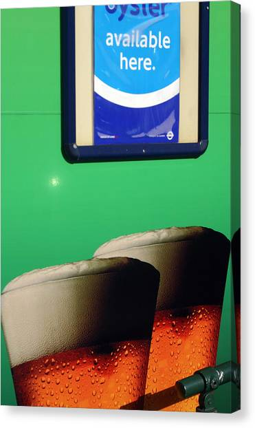 Mmmhh Beer Canvas Print by Jez C Self