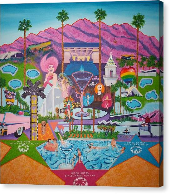 mmmm... Palm Springs Canvas Print