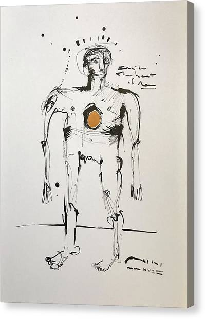 Fineart Canvas Print - Mmxvii Inside The Heart Of Man  by Mark M Mellon
