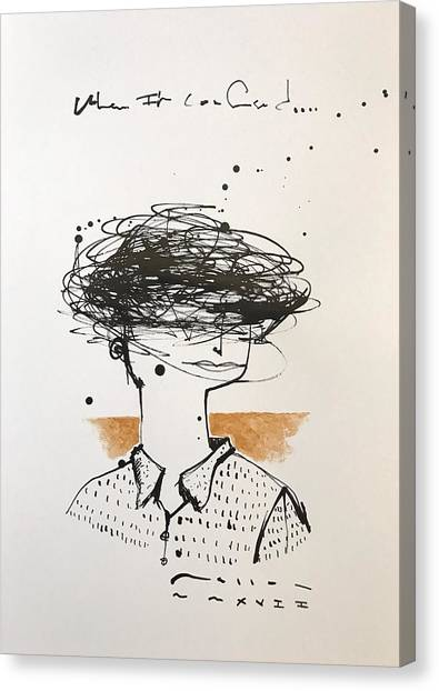Fineart Canvas Print - Mmxvii When I'm Confused  by Mark M Mellon