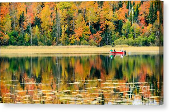 Mn Fall Fishing Canvas Print