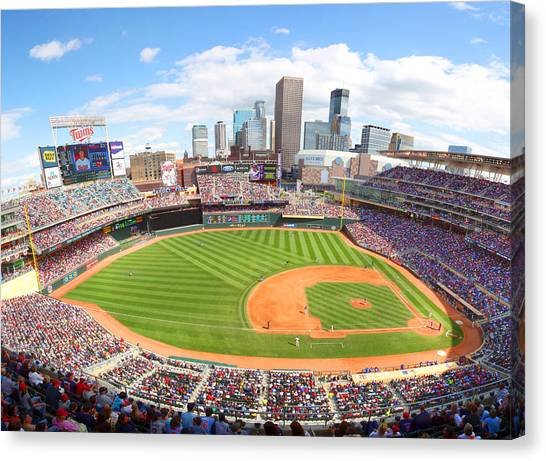 Minnesota Twins Canvas Print - Mn Twins Target Field by Michael Klement