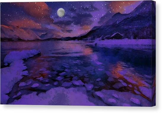 Mnon Over The Frozen Lands Canvas Print