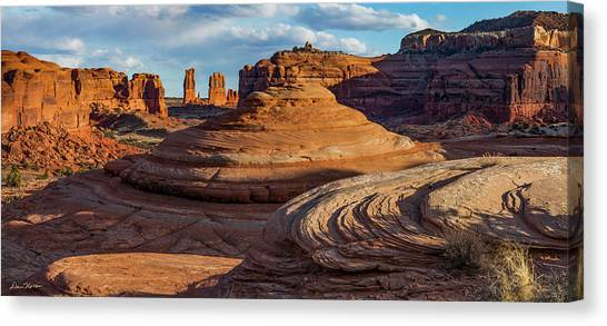Moab Back Country Panorama 2 Canvas Print