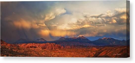 Desert Sunsets Canvas Print - Moab Sunset Panorama by Dan Norris