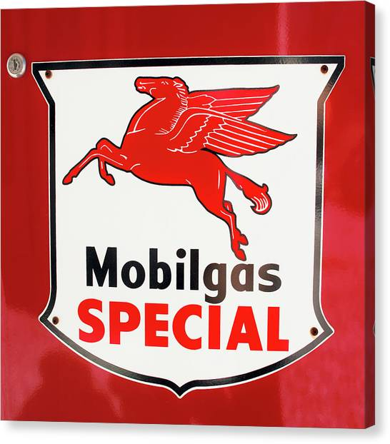 Mobilgas Vintage 82716 Canvas Print