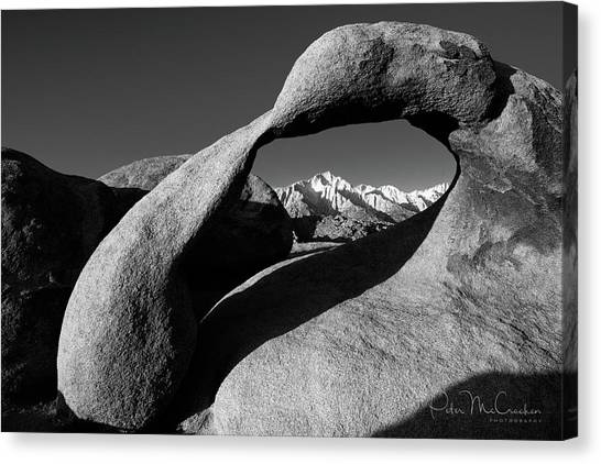 Mobius Arch Black And White Canvas Print by Peter McCracken