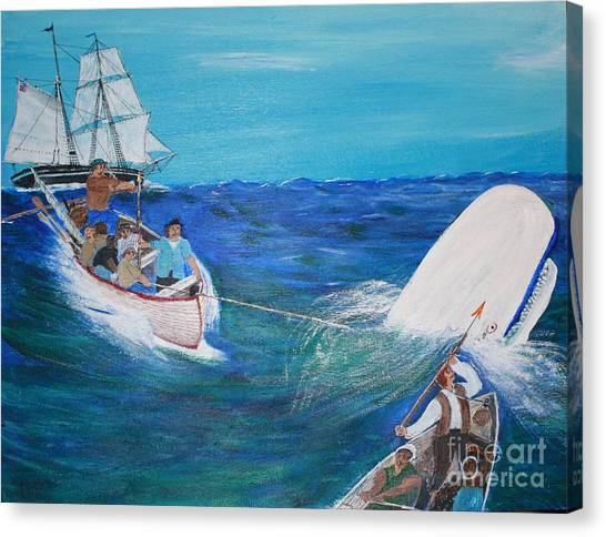 Moby Dick - The White Whale Canvas Print