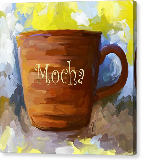 Mocha Coffee Cup Canvas Print