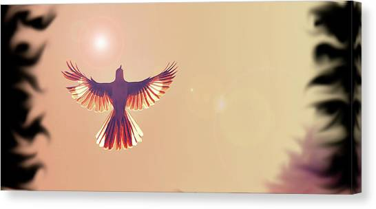 Phoenix Suns Canvas Print - Mocking The Phoenix by Bill McClurg