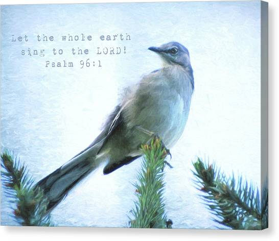 Mockingbird Scripture Canvas Print