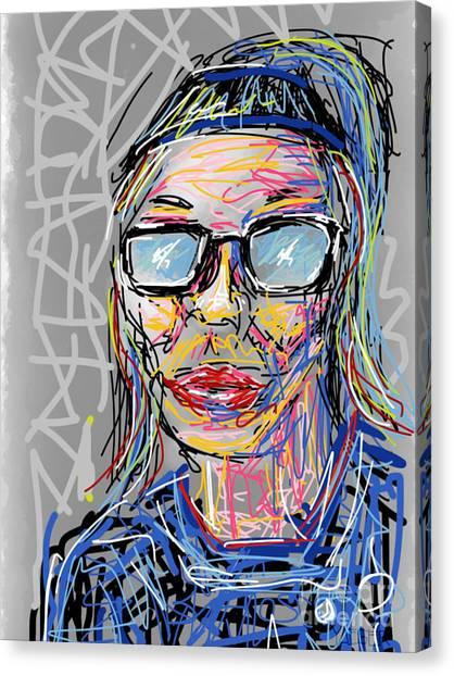 Bachelorette Canvas Print - Mod Girl by Robert Yaeger