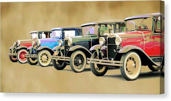Canvas Print - Model A's by Steve McKinzie