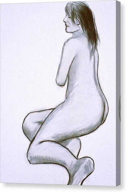Model Posing Canvas Print