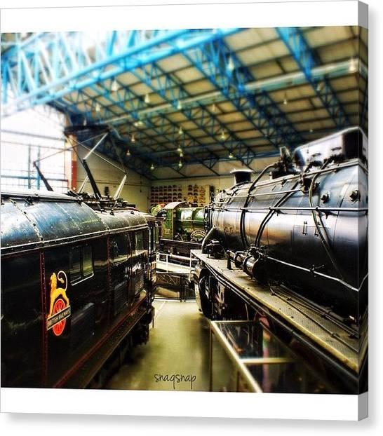 Steam Trains Canvas Print - Model Train Sets 🚊 #trains #rail by Saad Naqvi