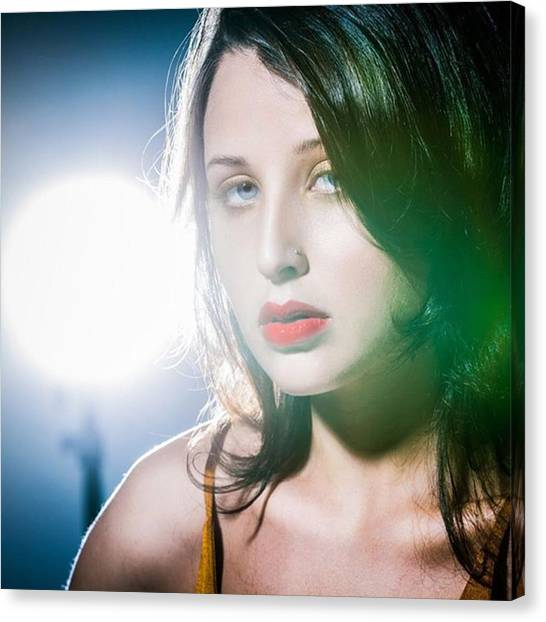 Women Canvas Print - Model Yaya Rovati Quintero by Juan Silva