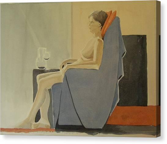 Modell Akvarell 2013 06 15-16 133 Canvas Print