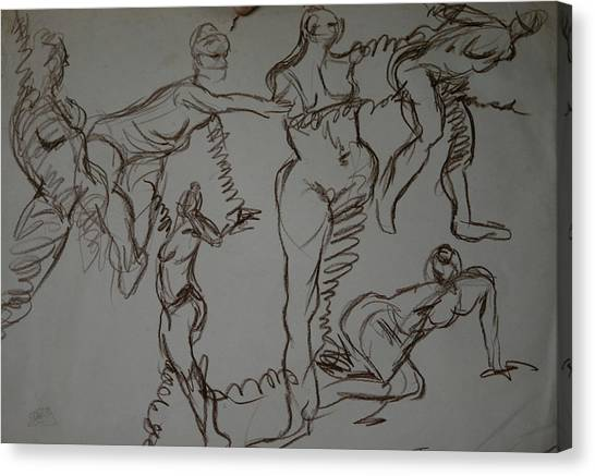 Modelz Canvas Print by Joseph Lawrence Vasile