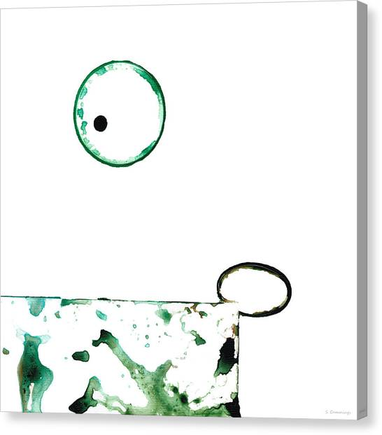 Splashy Canvas Print - Modern Art - Balancing Act 1 - Sharon Cummings by Sharon Cummings