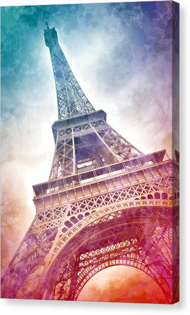Contour Canvas Print - Modern-art Eiffel Tower 21 by Melanie Viola