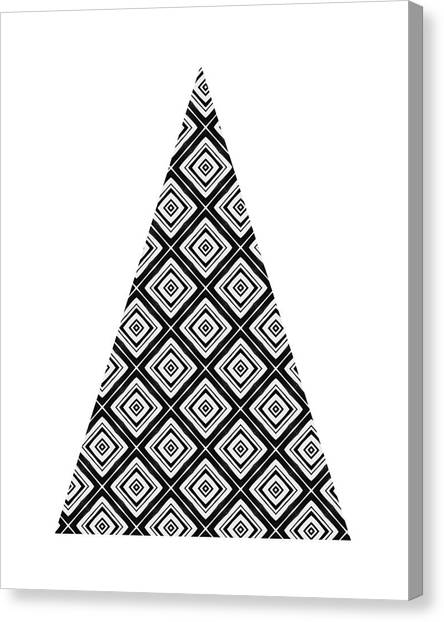 Winter Canvas Print - Modern Black And White Tree 1- Art By Linda Woods by Linda Woods