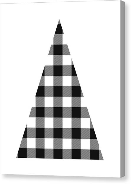 Winter Canvas Print - Modern Black And White Tree 2- Art By Linda Woods by Linda Woods