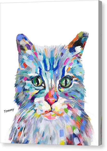Modern Cat Canvas Print