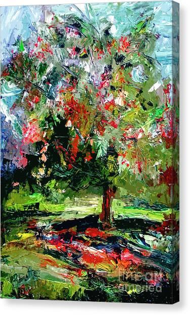 Modern Cherry Tree Contemporary Art  Canvas Print
