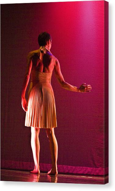 Canvas Print featuring the photograph Modern Dance 17 by Catherine Sobredo