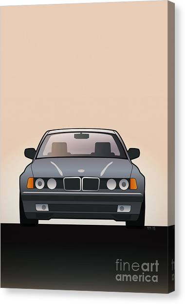Automotive Art Series Canvas Print - Modern Euro Icons Series Bmw E32 740i  by Monkey Crisis On Mars