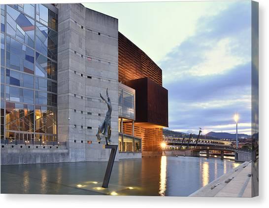 Modern Euskalduna Center Bilbao Canvas Print