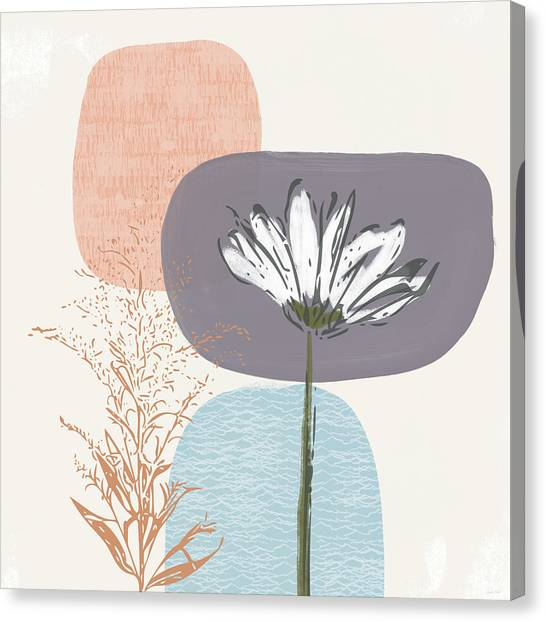 Shapes Canvas Print - Modern Fall Floral 2- Art By Linda Woods by Linda Woods