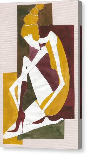 Modern Greek Goddess Canvas Print