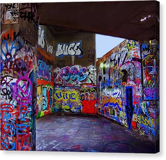 Graffiti Walls Canvas Print - Modern Hieroglyphics by Madeline Ellis