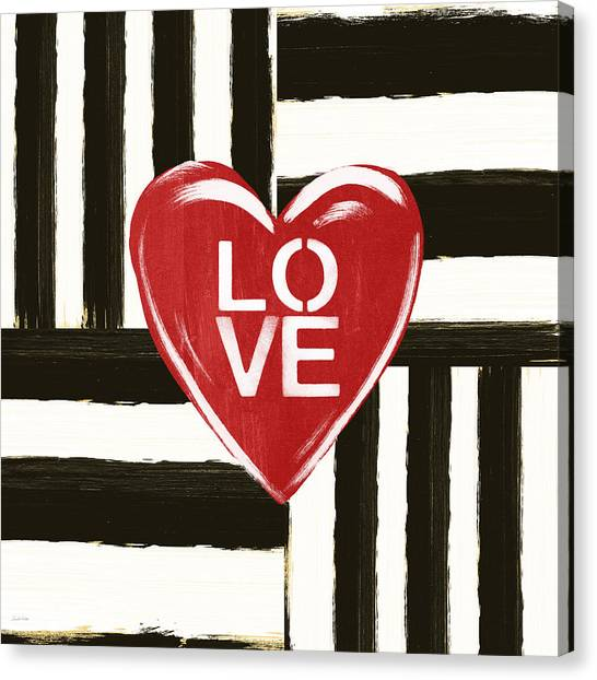 Heart Canvas Print - Modern Love- Art By Linda Woods by Linda Woods
