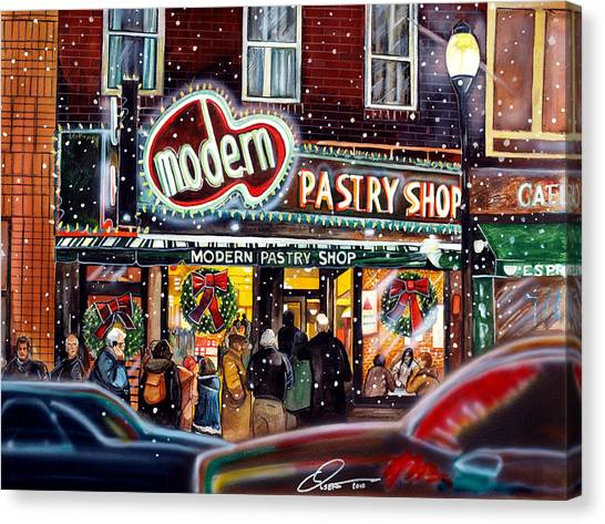 Boston Canvas Print - Modern Pastry Of Boston At Christmas by Dave Olsen