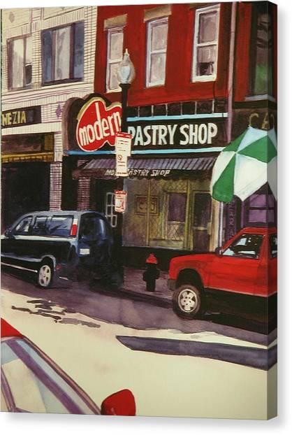 Modern Pastry Shop Boston Canvas Print by Walt Maes