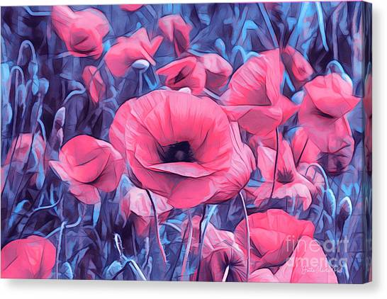 Modern Poppies Canvas Print